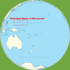 Micronesia location on the Pacific Ocean map