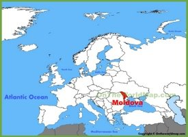 Moldova location on the Europe map