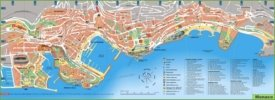 Large detailed map of Monaco