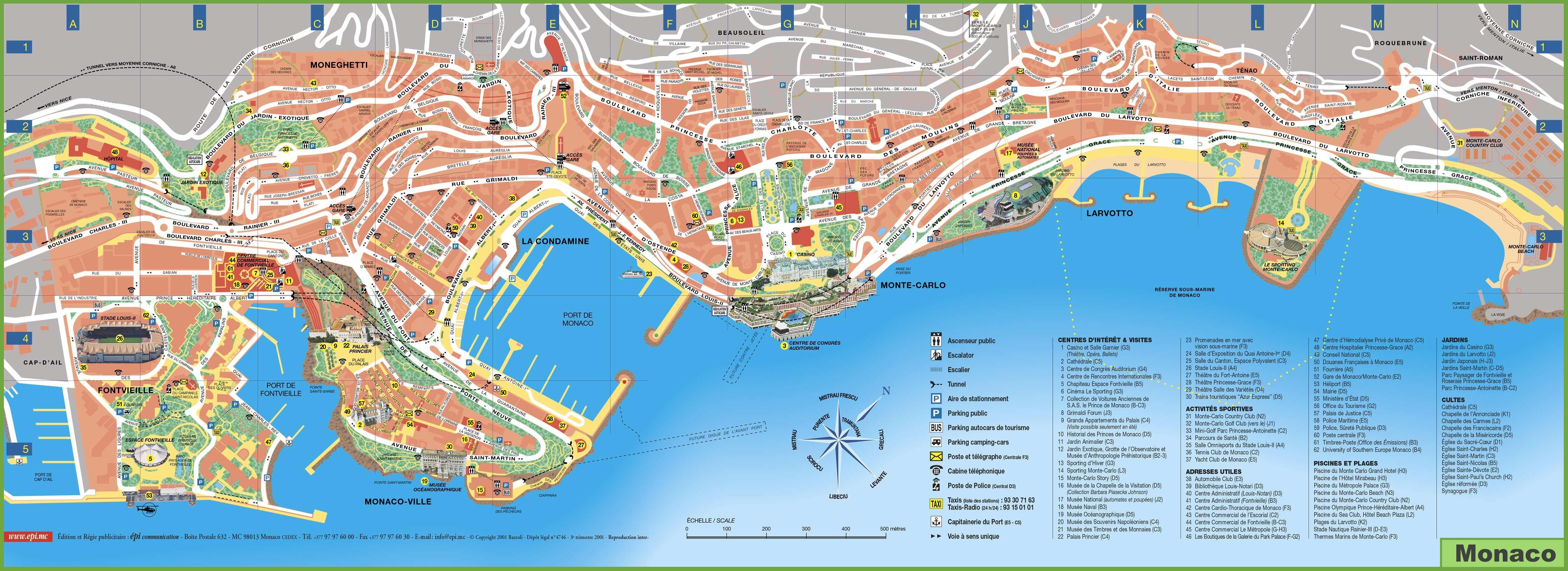 nizza látnivalók térkép A Côte d'Azur