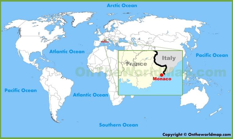 Monaco location on the World Map