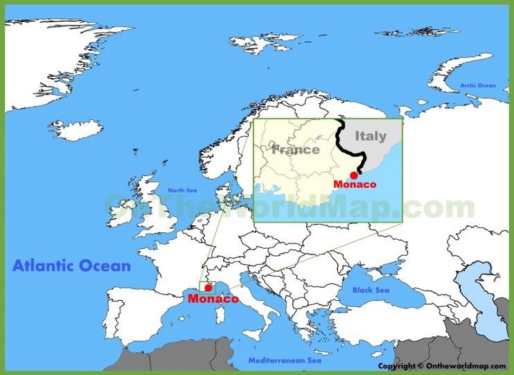 Monaco location on the Europe map