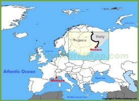 Monaco location on the Europe map