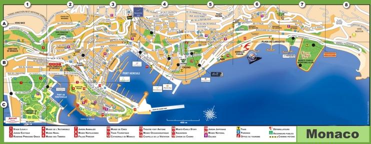 Monaco tourist map