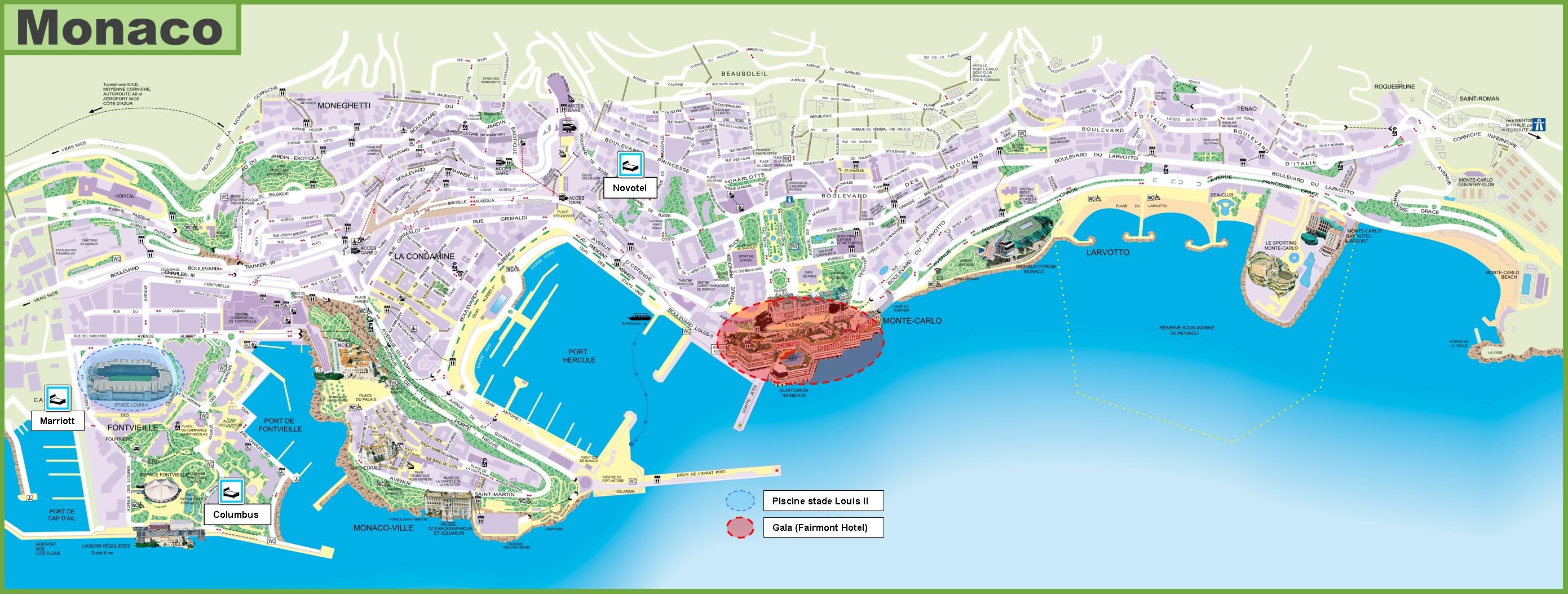 monaco travel map -