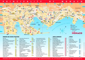 Tourist Map of Monaco With Sightseeings And Hotels