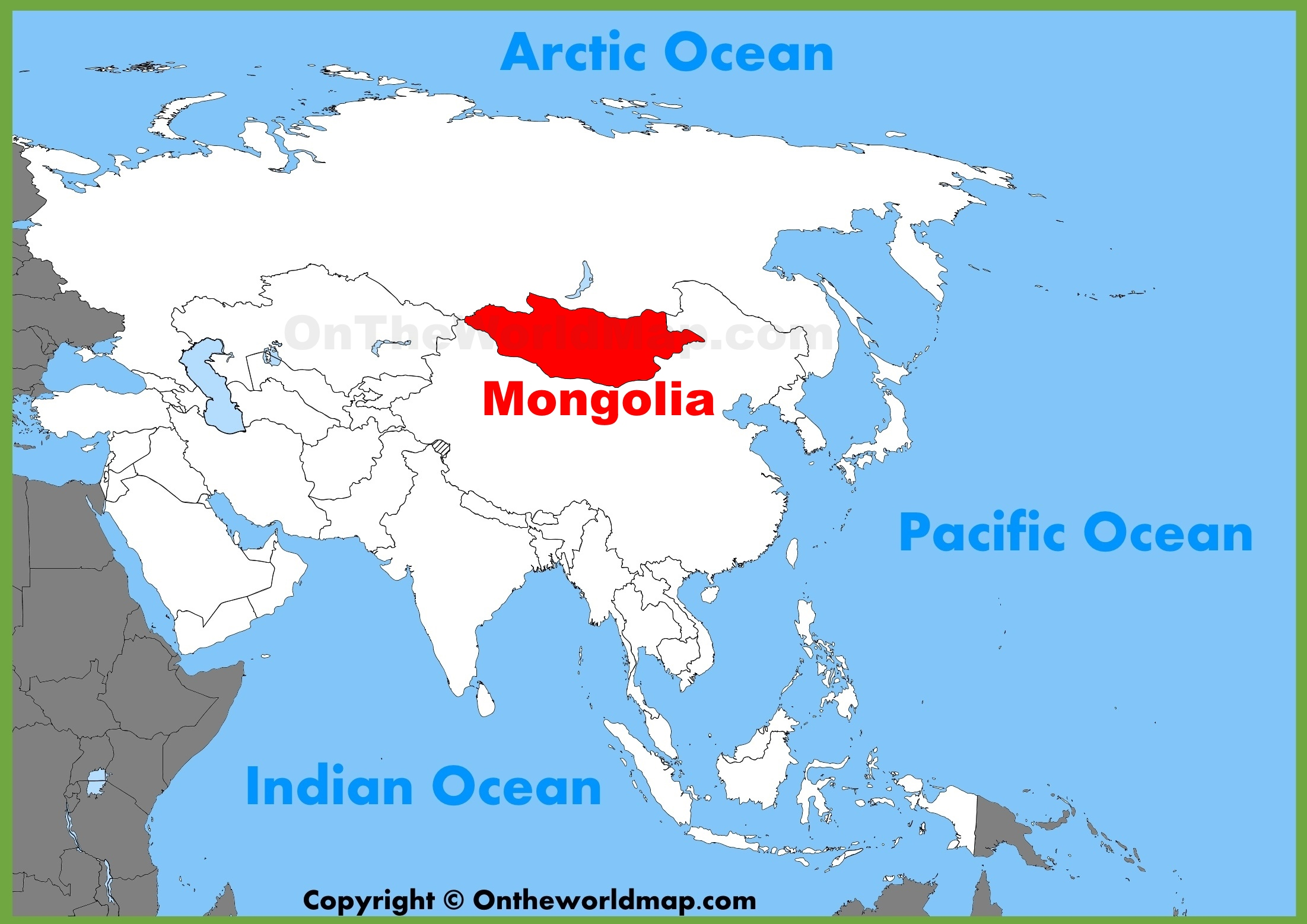 Mongolia Location Map Mongolia location on the Asia map