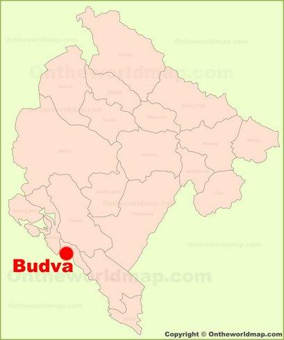 Budva Location Map