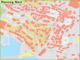 Herceg Novi city center map