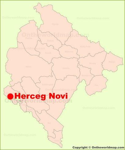 Herceg Novi Location Map