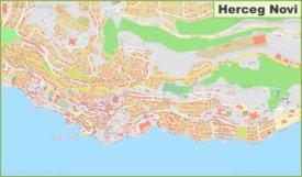 Large detailed map of Herceg Novi