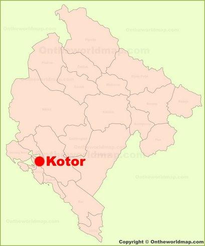 Kotor Location Map