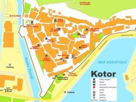 Kotor tourist map