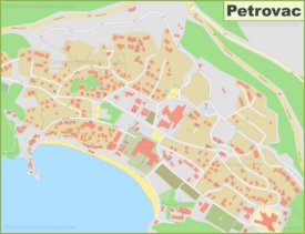 Large detailed map of Petrovac