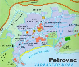 Petrovac tourist map