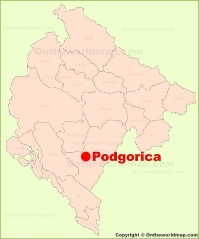 Podgorica Location Map