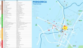 Podgorica sightseeing map