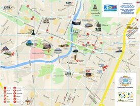 Podgorica tourist map