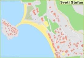 Large detailed map of Sveti Stefan