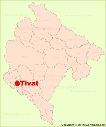 Tivat Maps Montenegro Maps Of Tivat