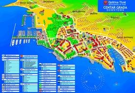 Tivat tourist map