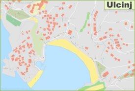 Ulcinj city center map