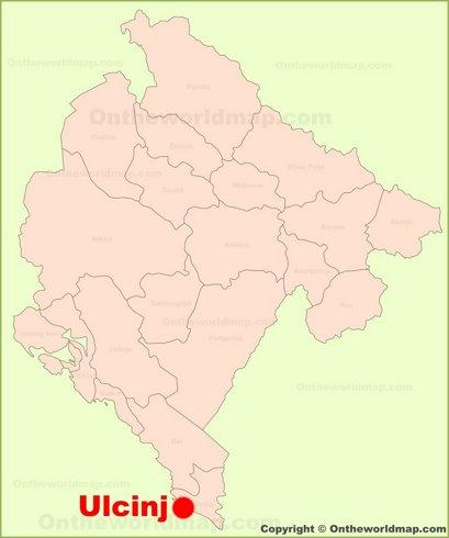 Ulcinj Location Map