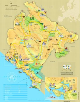 Montenegro tourist attractions map