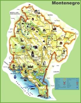 Montenegro tourist map