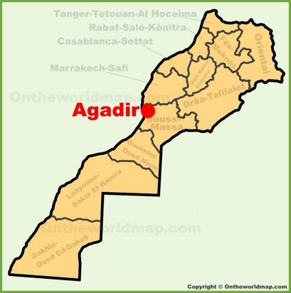 Agadir Location Map