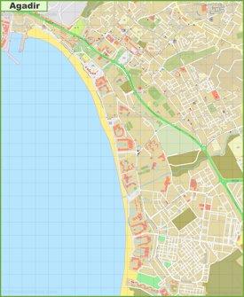 Detailed map of Agadir