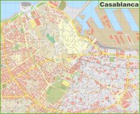 Casablanca city center Map