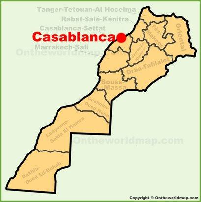 Casablanca Location Map