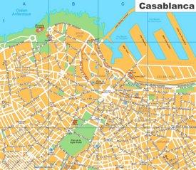 Casablanca sightseeing map