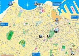 Casablanca tourist map
