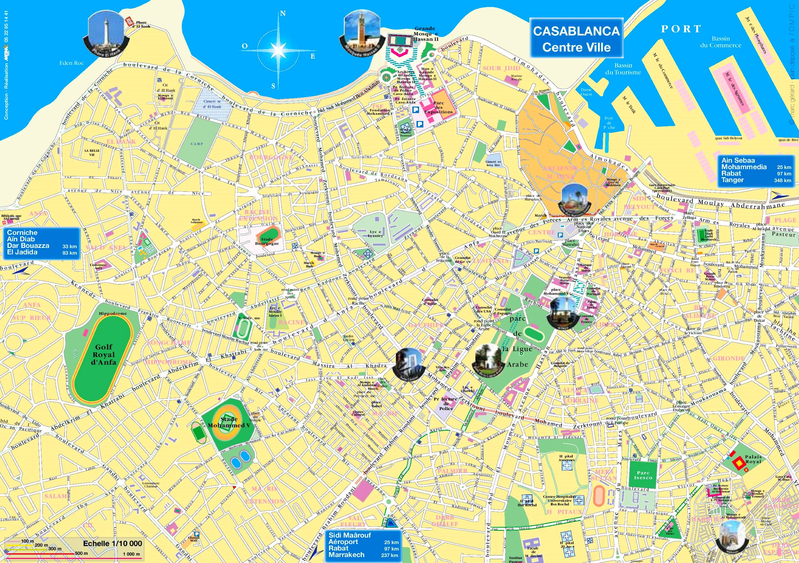 Casablanca tourist map on johannesburg map, key largo map, algeria map, timbuktu map, potsdam map, dubai map, morocco map, tripoli map, western sahara map, marrakesh map, marrakech map, africa map, algiers map, dar es salaam map, cape town map, damascus map, accra map, salerno map, oran map, lima map,