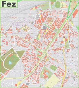Fez city center Map