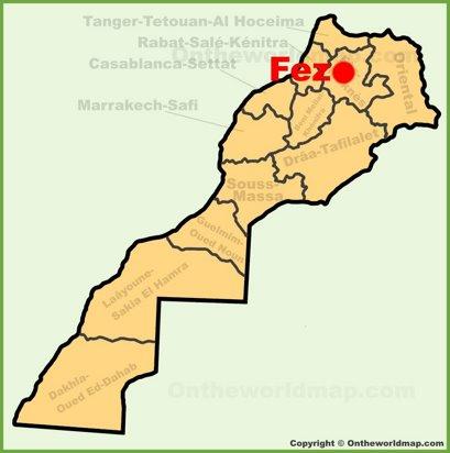 Fez Location Map