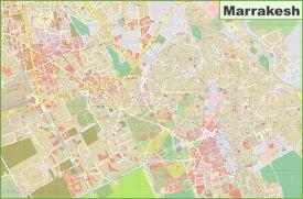 Detailed map of Marrakesh