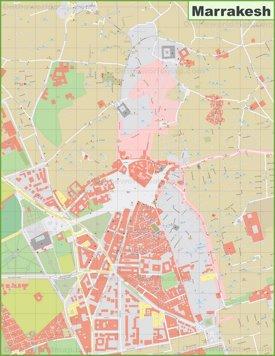 Marrakesh city center Map
