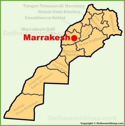 Marrakesh Location Map