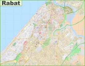 Detailed map of Rabat