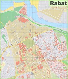 Rabat city center Map