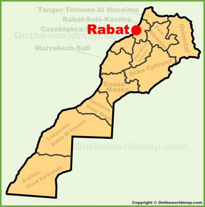 Rabat Location Map