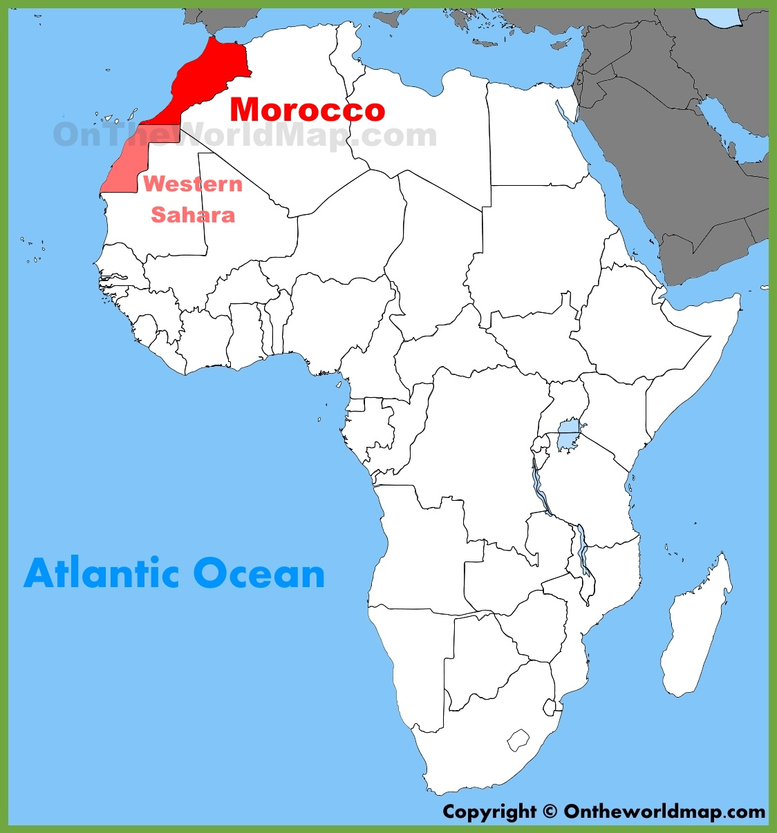 Morocco Map Africa Morocco location on the Africa map