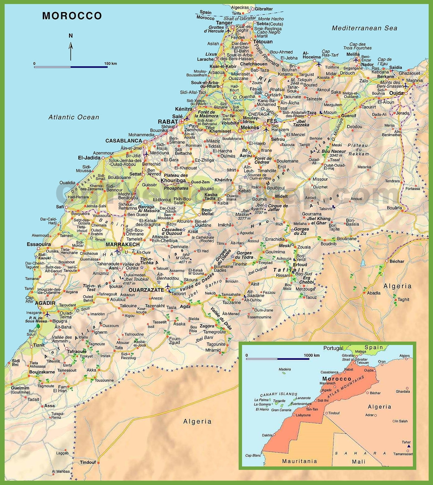 Morocco Maps – Morocco Tourist Map