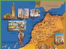 Morocco tourist map