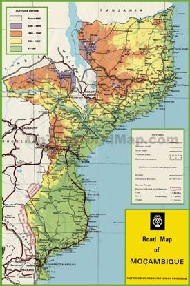 Mozambique road map