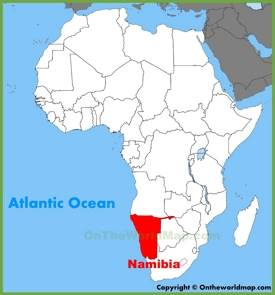 Namibia location on the Africa map