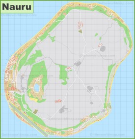 Large detailed map of Nauru
